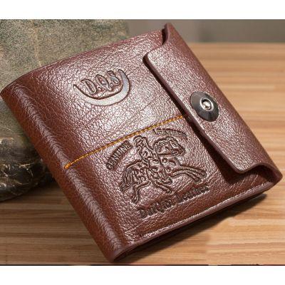 Portefeuille en cuir pour homme avec gravure imprimé