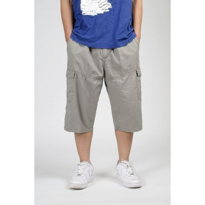 Short baggy pour homme en toile avec poche côté genoux