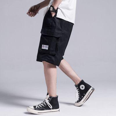 Short cargo pour homme avec poches côté et étiquette