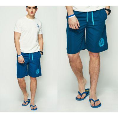 Short de Bain Homme Uni avec Logo SWave Quick Dry