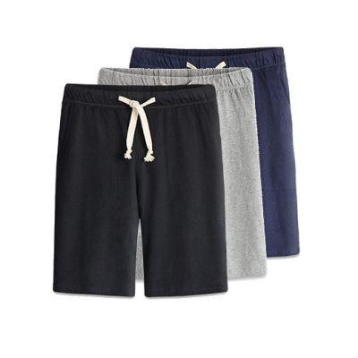 Short en coton pour homme avec cordon ceinture blanc