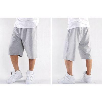 Short en Coton pour Homme Couleur solide uni Gris ou Noir