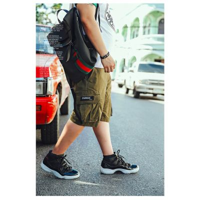 Short en Coton Style Cargo avec poches côté pour homme grande taille