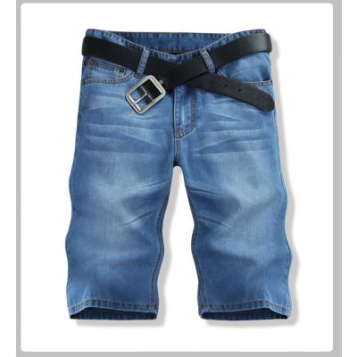 Bermuda en jean pour homme - bleu foncé