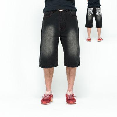 Short en Jeans Noir pour homme avec motif poches arrières