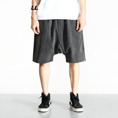 Shorts de grande taille pour homme pantalon de sport couleur unie taille élastique