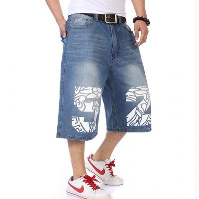 Shorts baggy en jeans avec flocage Medusa 52