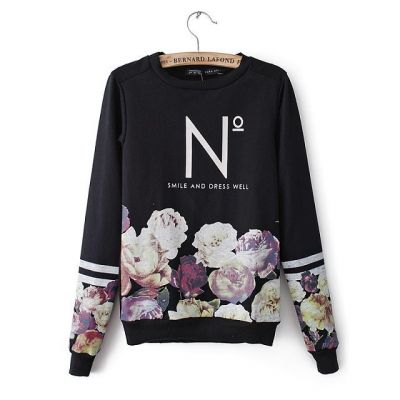 Pull Motif à Fleurs pour Femme Smile and Dress Well