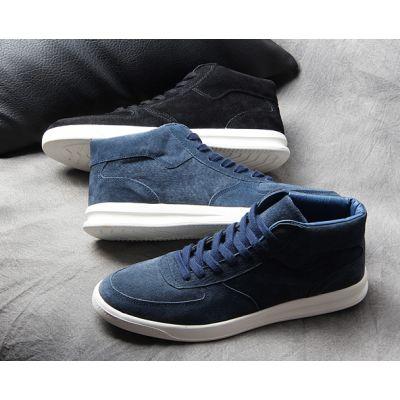 Sneakers montantes bottines pour homme deluxe en daim