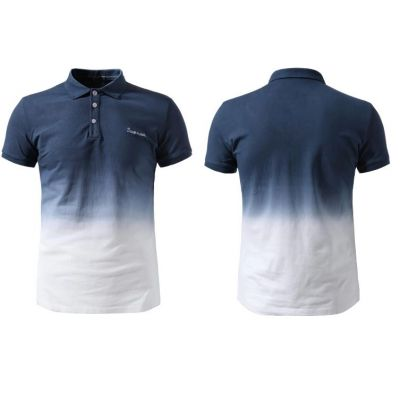 Polo a manches courtes degradé bicolore – cotton