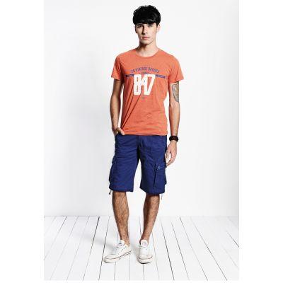 Bermuda cargo pour homme avec poches côtés en toile solide