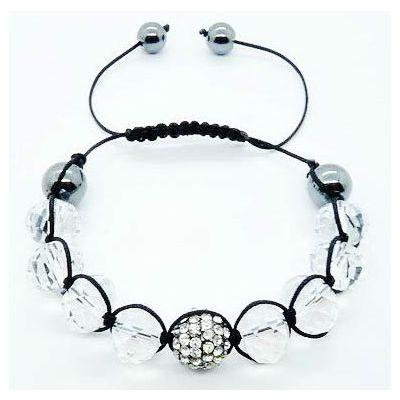 Bracelet Shamballa Perles Rondes Classique Bijoux Tibétain Bouddhiste