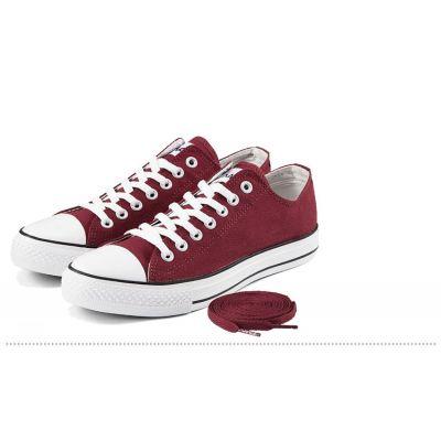 Chaussures Sneakers Denim Basses avec semelle et pointe blanche
