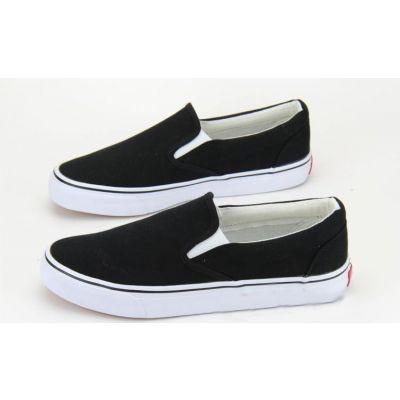 Chaussures Slip on Unies sans lacets avec semelle blanche