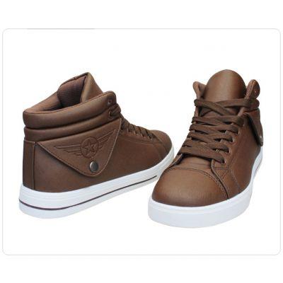 Boots Baskets Montantes Sports avec Rabat Côtés Chaussures Urbaines