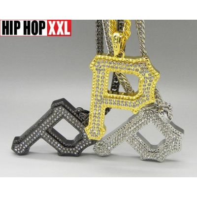Pendentif Wiz Khalifa P Pittsburgh Bling Bling Hip Hop Argent Or