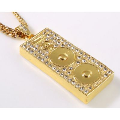 Collier Bling Bling Hip Hop Sound System Enceinte