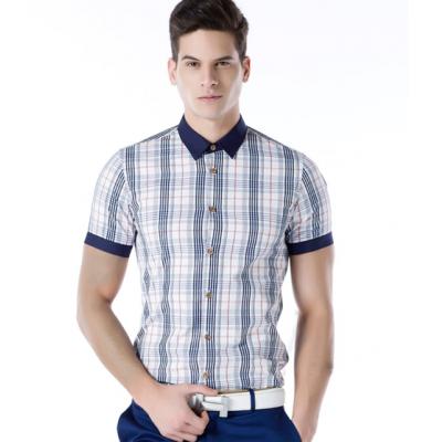Chemise manches courtes fashion pour homme avec devant plaide