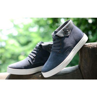Chaussures de ville montantes avec rabat en cuir