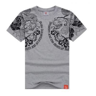 T shirt Lotus Oriental Streetwear Gravure Tatouage Japonais