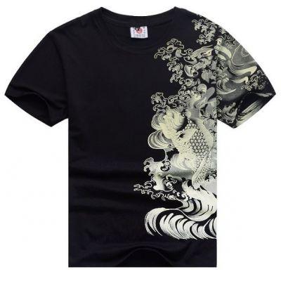T shirt Carpe Tatouage Japonais Streetwear Swag Hip Hop Design