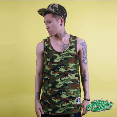 T shirt sans manche pour homme Motif Camouflage Vert Armée