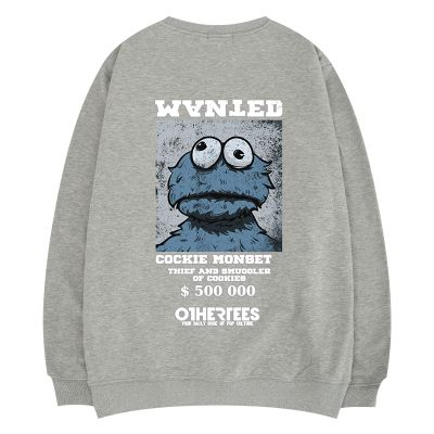 Sweat-shirt style cookie monster unisex