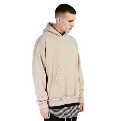 Sweatshirt à capuche homme avec coupe large ton beige