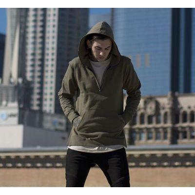 Sweatshirt à capuche oversize avec capuche à fermeture éclair