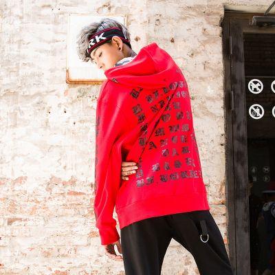 Sweatshirt à Capuche pour homme avec inscription lettres gothiques