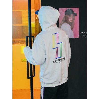 Sweatshirt à capuche retro pour homme avec visuel couleur au dos