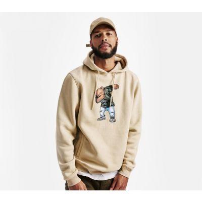 Sweatshirt à Capuche Swaggy bear dab pour homme - beige