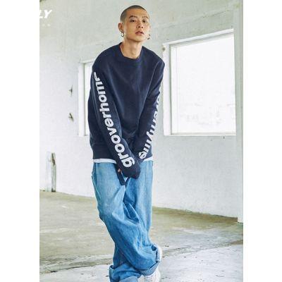 Sweatshirt manches oversize imprimé GrooverHome