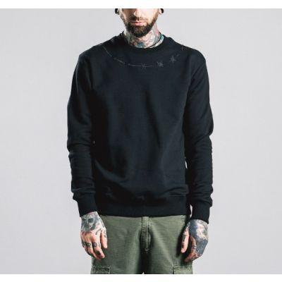 Sweatshirt pour homme avec motif fil barbelé autour du cou