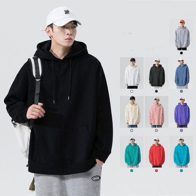Sweatshirt à capuche uni classique pour homme