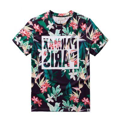 T-shirt à Fleurs Swag Panmax Paris Imprimé Homme Grande Taille