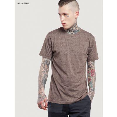 T-shirt Basics en coton chiné Inflation pour Homme