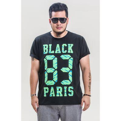 T-shirt Black Paris 83 Panmax pour Homme Grande Taille