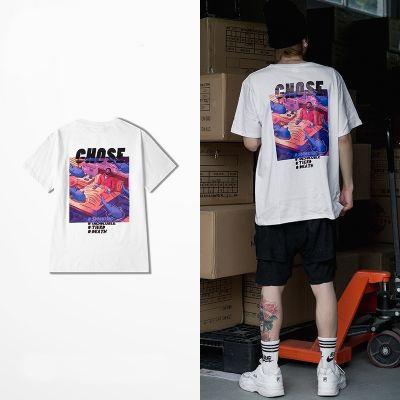 T-shirt Chose Purple Streetwear pour Homme