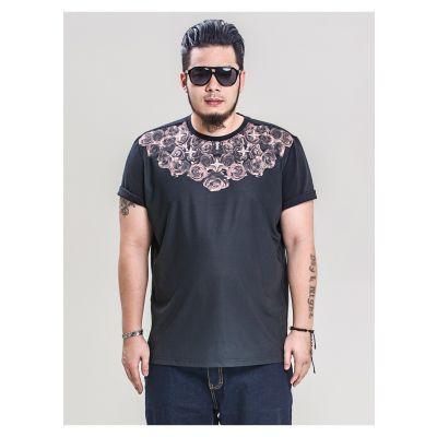T-shirt Col Roses Imprimé Etoiles Panmax Homme Grande Taille