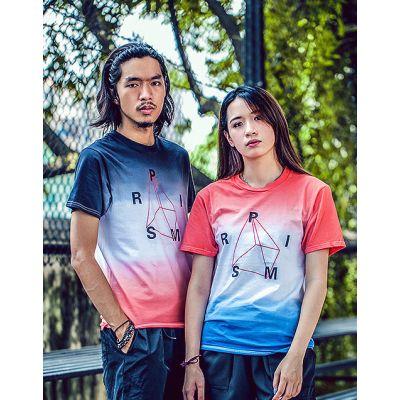 T shirt dégradé bicolore pour homme ou femme imprimé prism