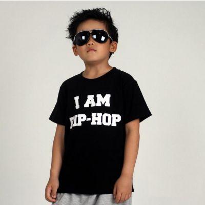 T shirt pour Enfant I am Hip Hop Noir Blanc Rouge Coton