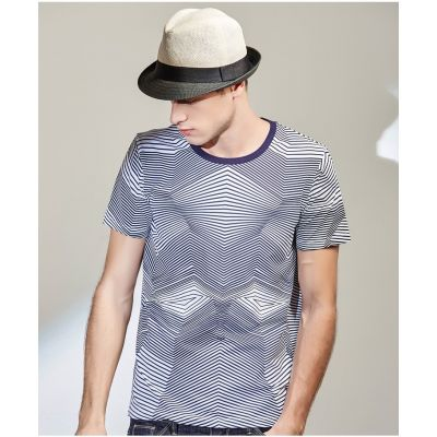 T-shirt Fashion Géométrique Imprimé Motif Illusion Optique