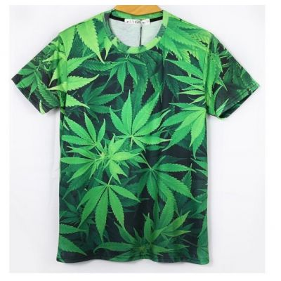 T shirt Feuille Cannabis Photographie Weed Leaf Stretch pour Homme