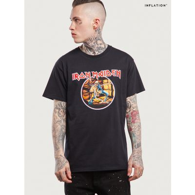 T-shirt Iron Maiden Metal Vintage Inflation pour homme