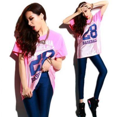 T shirt Large Baseball 28 Swag pour Femme Demi Coupé