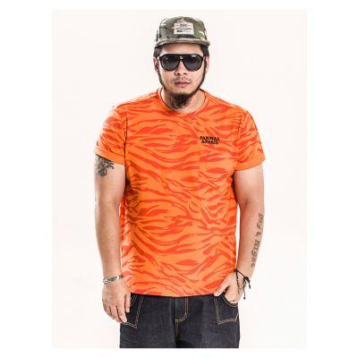 T-shirt Orange Tiger Panmax Paris Homme Grande Taille