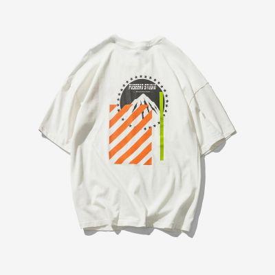T-shirt oversize Paramount Industriel Imprimé graphique bandes