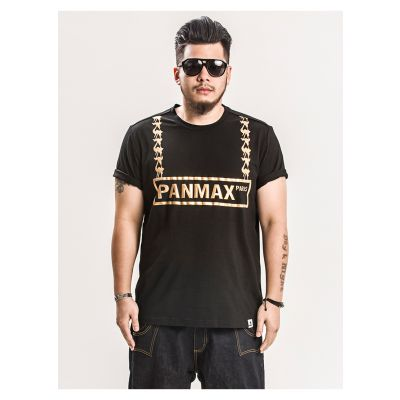 T-shirt Panmax Paris Gold Chain Medallion Bling Bling Grande Taille