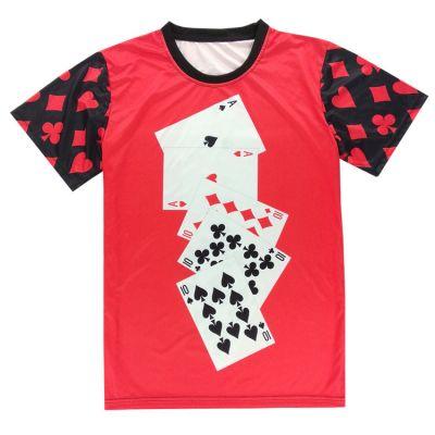 T-shirt Poker Cartes de jeux A 10 Rouge et Noir
